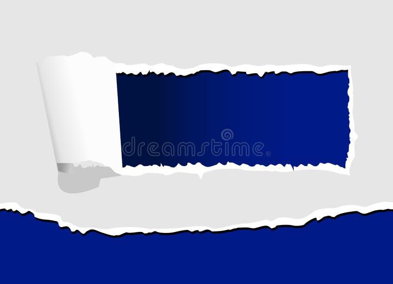 Download Drzejący dziura papier ilustracja wektor. Ilustracja złożonej z dekoracje - 13339434