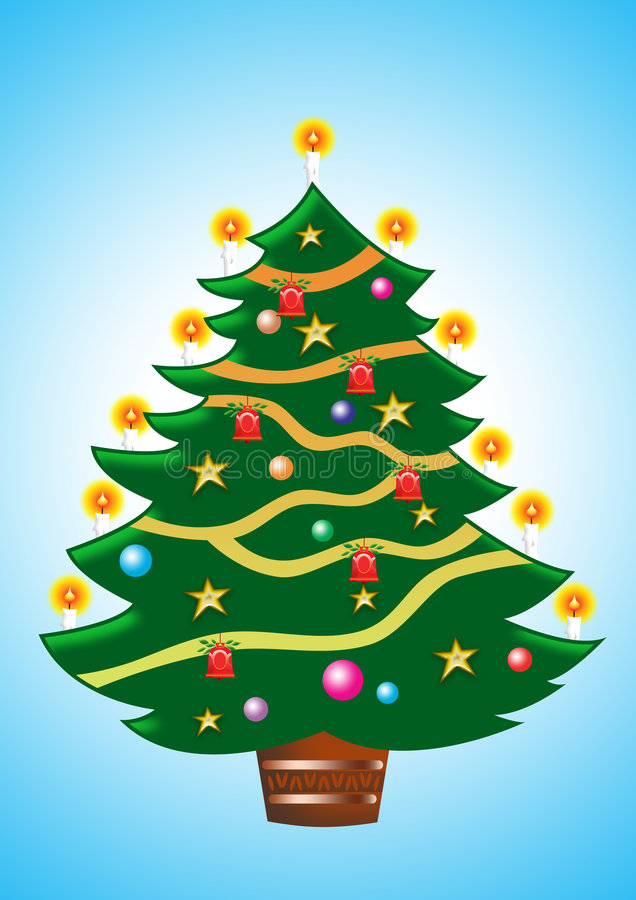 drzewa świąt ilustracji