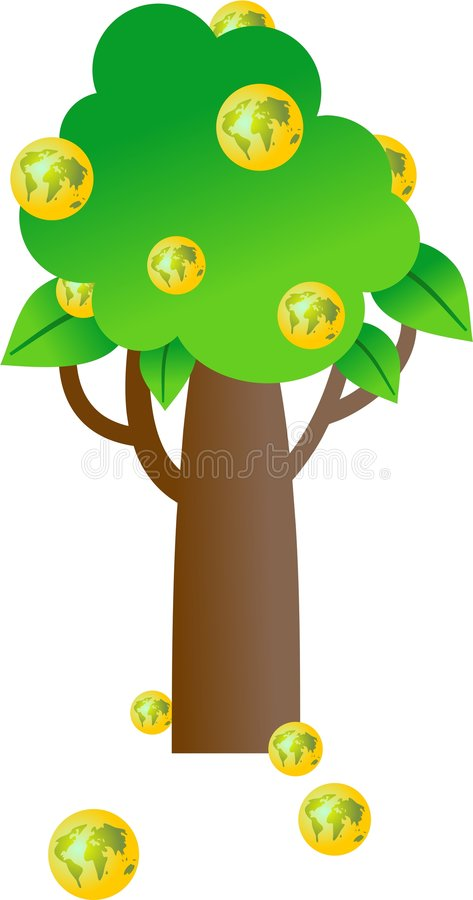 drzewa świata ilustracja wektor
