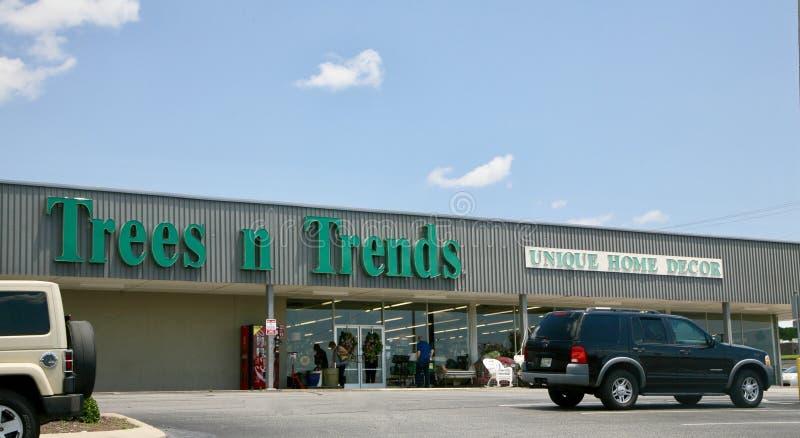 Drzewa i trendy Stwarzają ognisko domowe wystroju sklep, Jackson Tennessee fotografia royalty free