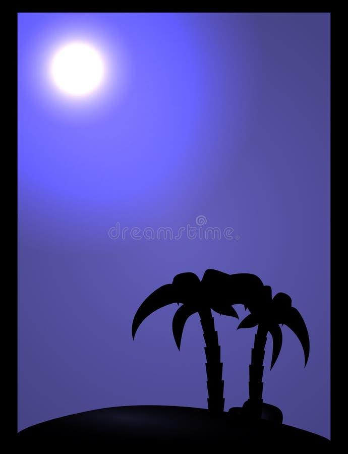 Download Drzewka palmowe ilustracji. Ilustracja złożonej z purpury - 28953591
