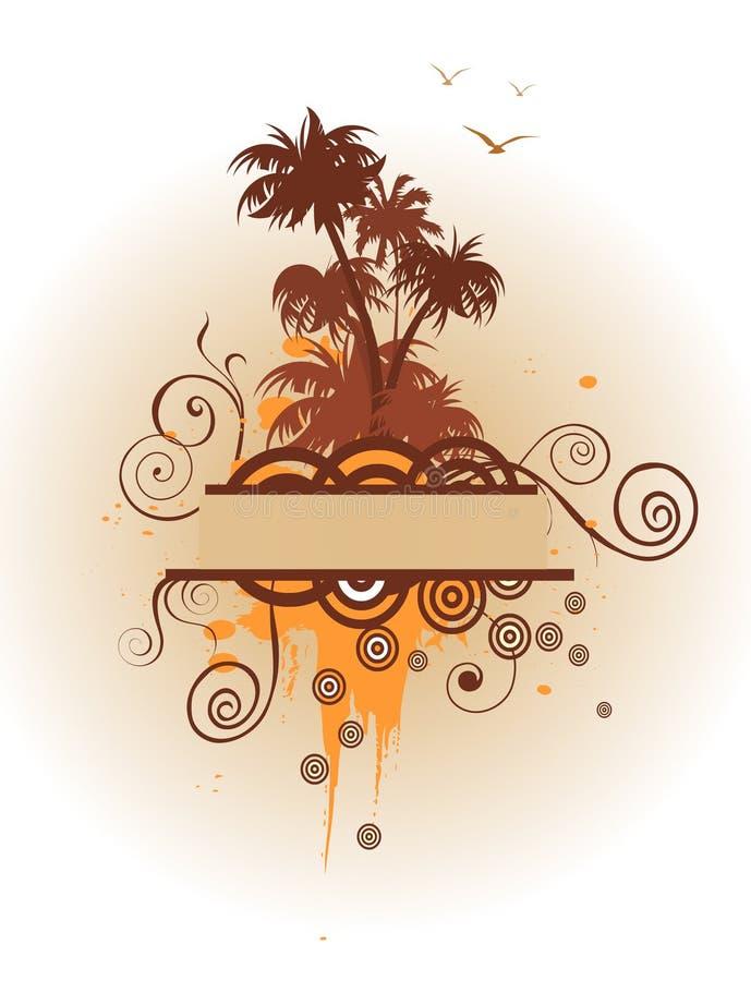 drzewka palmowe ilustracji
