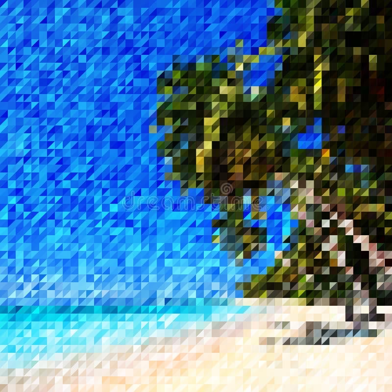 Drzewka palmowe i pla?a ilustracja wektor