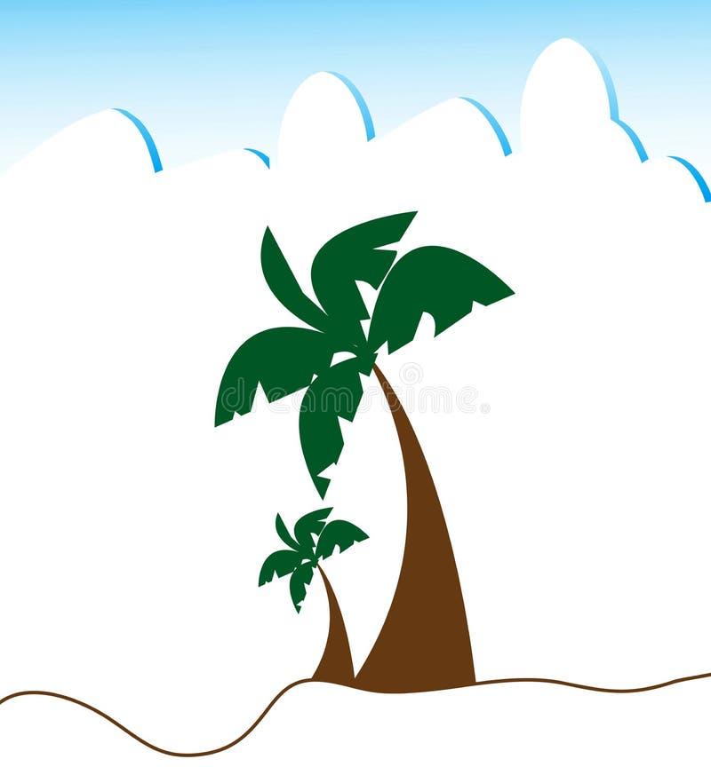 drzewko palmowe royalty ilustracja