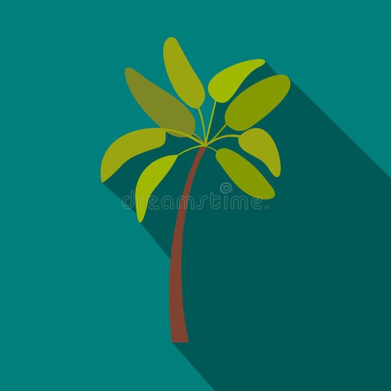 Drzewko palmowe ikona, mieszkanie styl ilustracji