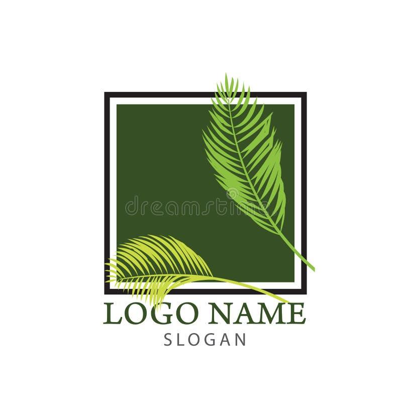 Drzewko palmowe logo royalty ilustracja