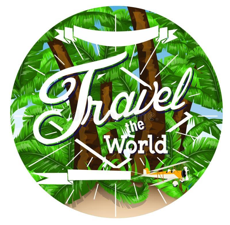 Download Drzewko Palmowe Podróży Tło Ilustracja Wektor - Ilustracja złożonej z łuna, wakacje: 53777744