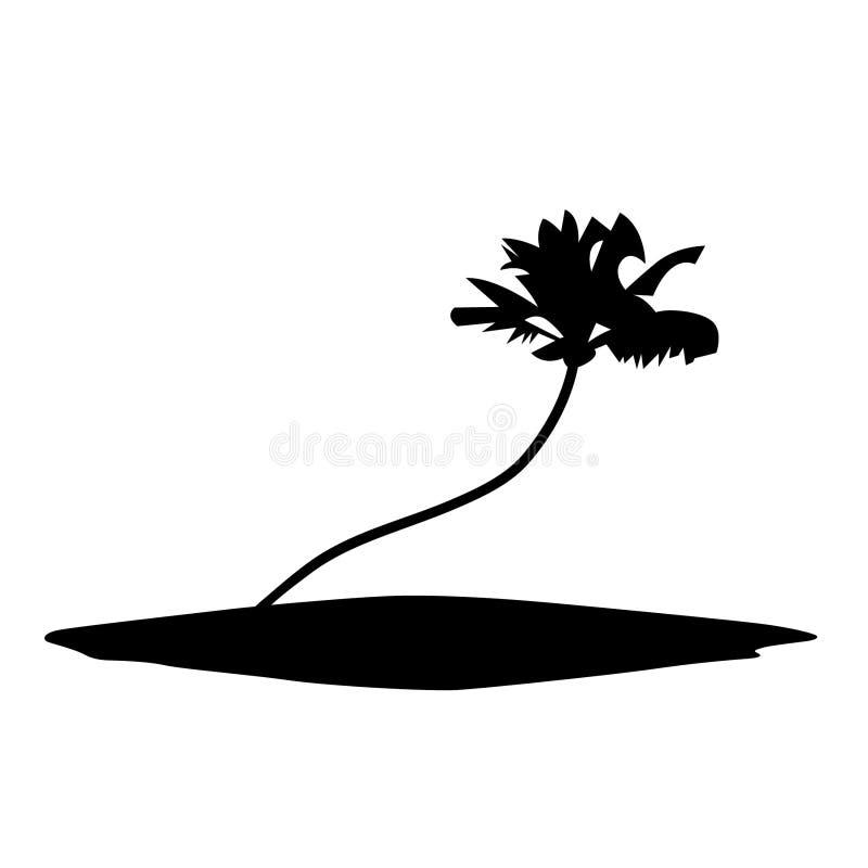 Drzewko palmowe r?ka rysuj?ca, wektor, Eps, logo, ikona, sylwetki ilustracja crafteroks dla r??nego u?ywa ilustracja wektor