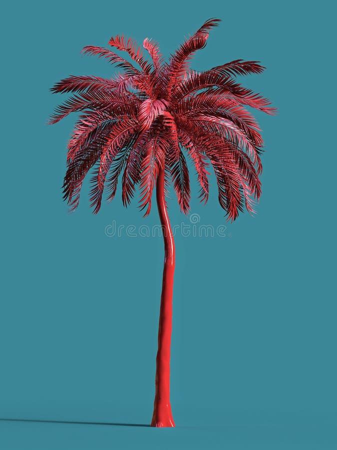 Drzewko palmowe tropikalnej rośliny sen plaży symbolu projekta złocistego złotego elementu wycieczki turysycznej wielki urlopowy  royalty ilustracja