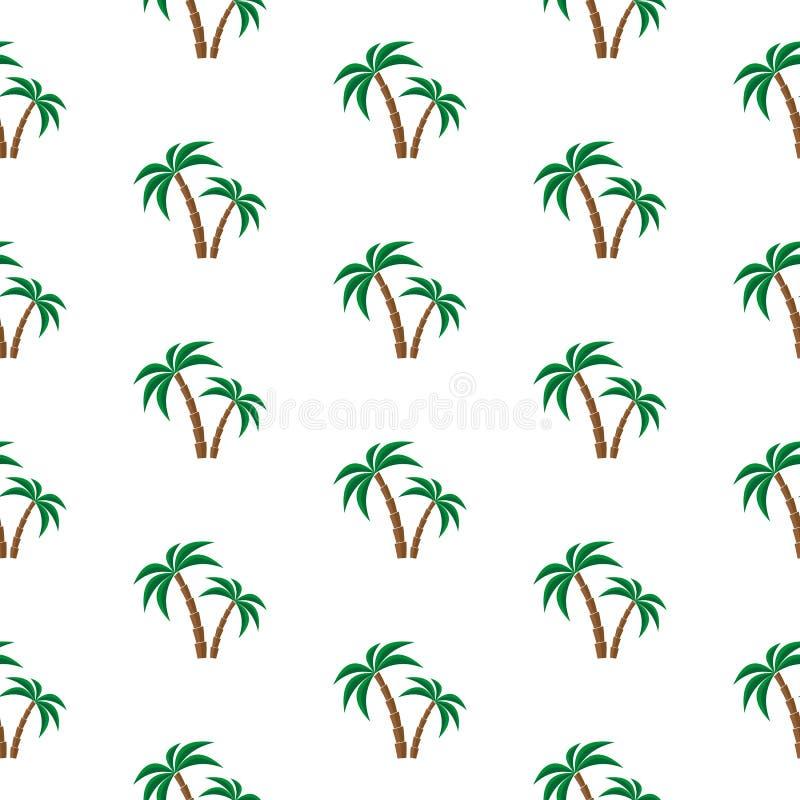 Drzewko palmowe wzór ilustracja wektor