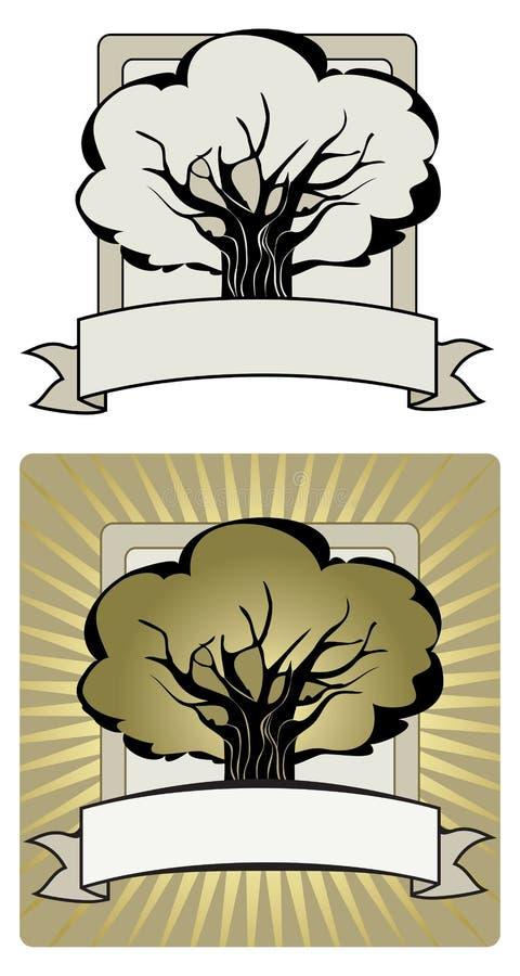 Drzewna etykietka royalty ilustracja