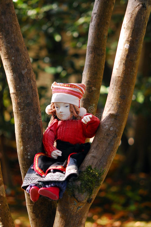Drzewna lala obraz royalty free