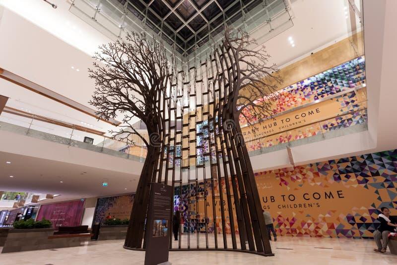 Drzewna rzeźba w Yas centrum handlowym, Abu Dhabi zdjęcia royalty free