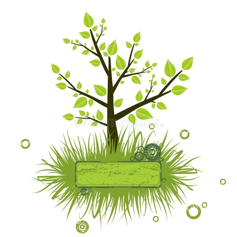 Drzewna sylwetka ilustracja wektor
