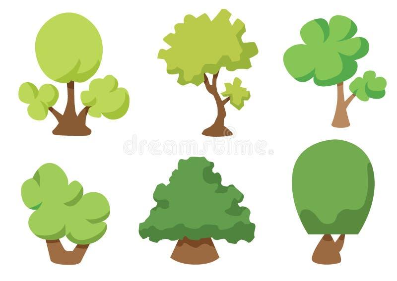 Drzewna wektorowa ikona odizolowywaj?ca na bia?ym tle, Drzewny logo poj?cie royalty ilustracja