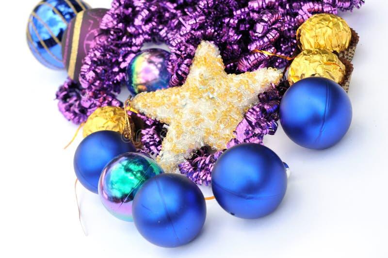 drzewne Boże Narodzenie dekoracje zdjęcia stock