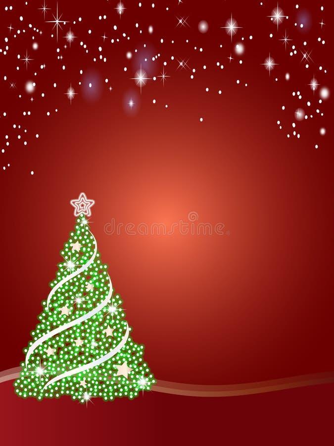 drzewne Boże Narodzenie gwiazdy royalty ilustracja