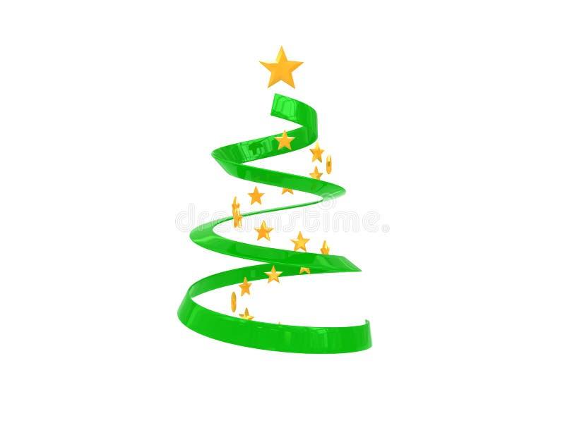 drzewne Boże Narodzenie gwiazdy ilustracja wektor