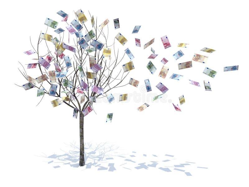 drzewne liść spadać notatki ilustracja wektor