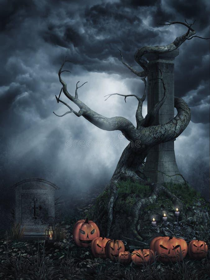 drzewne nieżywe banie ilustracja wektor