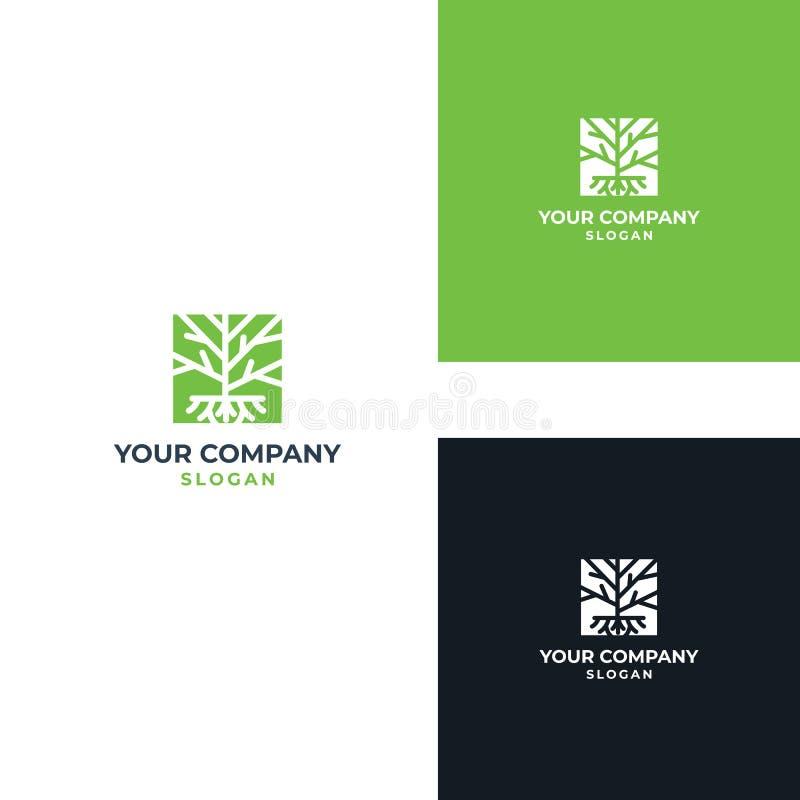 Drzewnej Wektorowej ikony projekta Ilustracyjny szablon zdjęcie stock