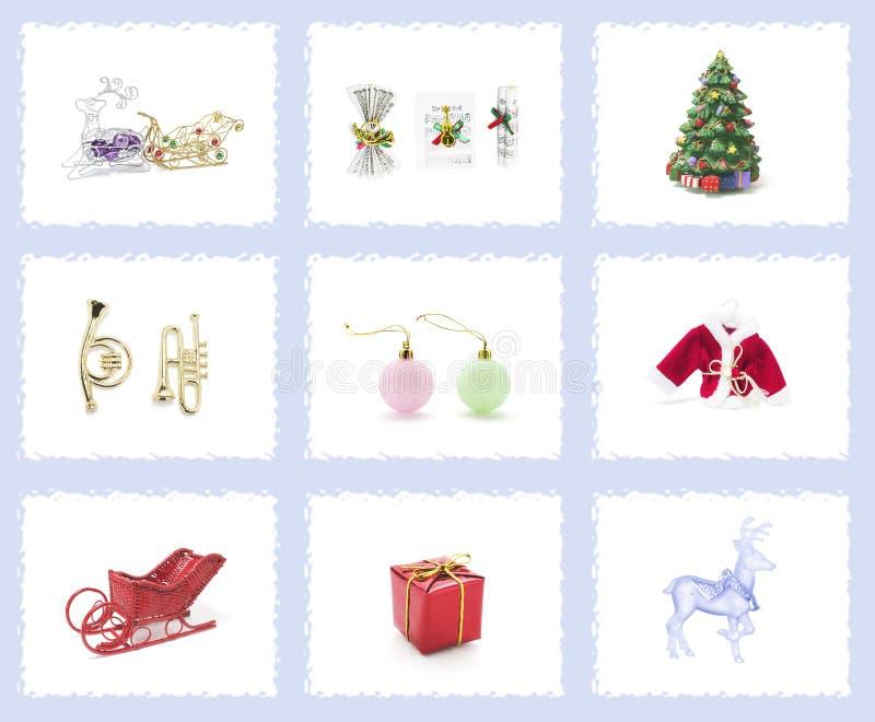 drzewni Boże Narodzenie ornamenty obrazy royalty free