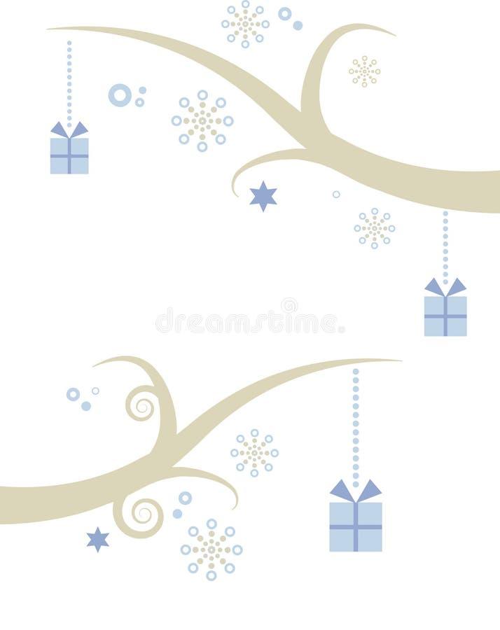 drzewni Boże Narodzenie prezenty ilustracji