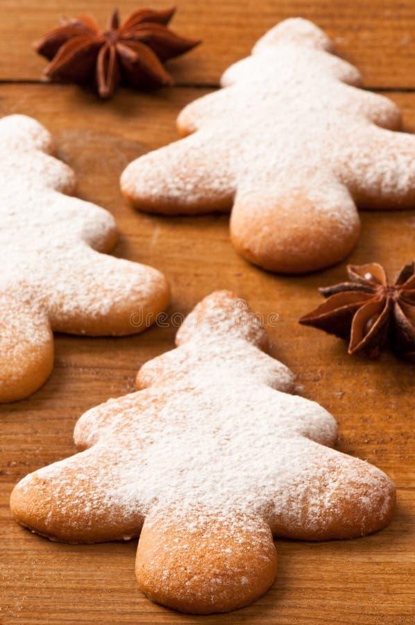 drzewni Bożych Narodzeń ciastka obrazy royalty free