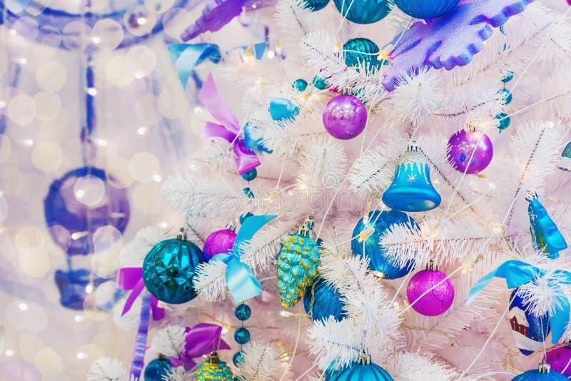 drzewni bokeh bożonarodzeniowe światła obrazy royalty free