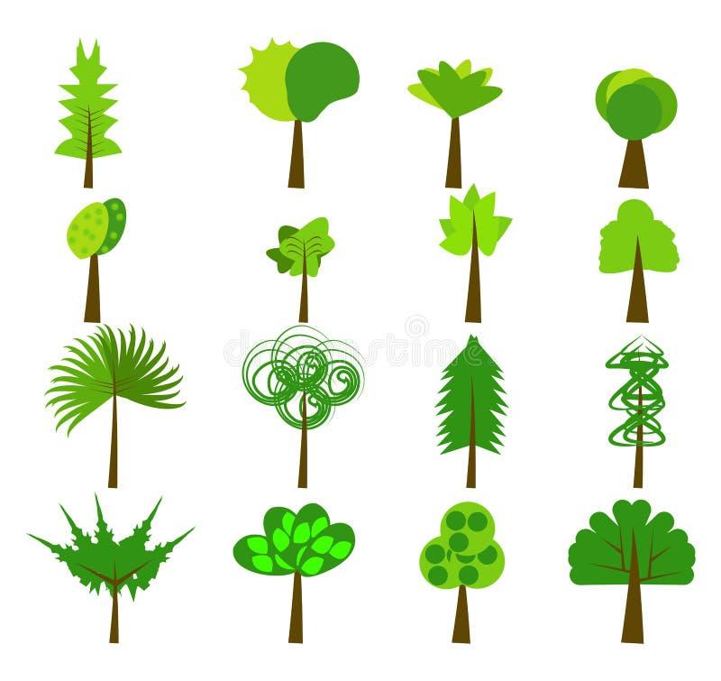 Drzewni logów elementy ilustracji