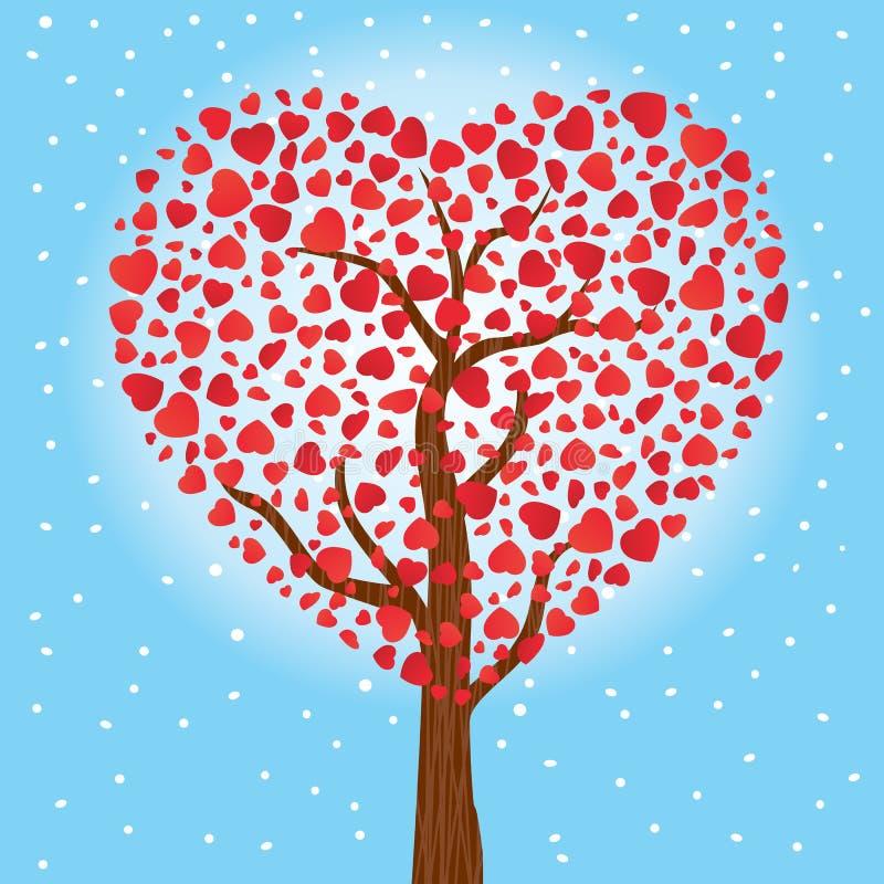 Drzewni serca miłość również zwrócić corel ilustracji wektora royalty ilustracja