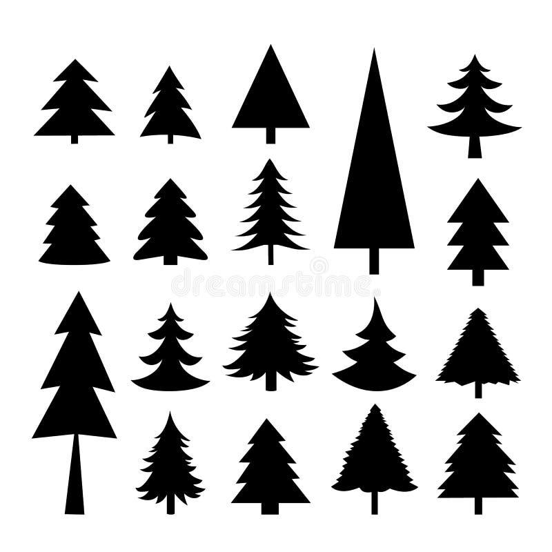 Drzewny Bożenarodzeniowy ikona wektor royalty ilustracja