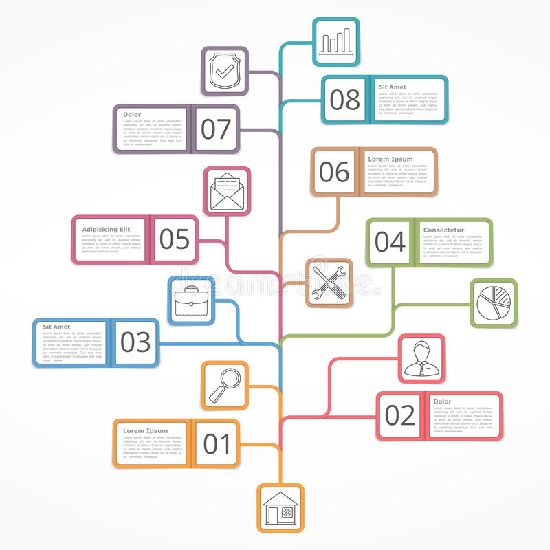 Drzewny diagram royalty ilustracja