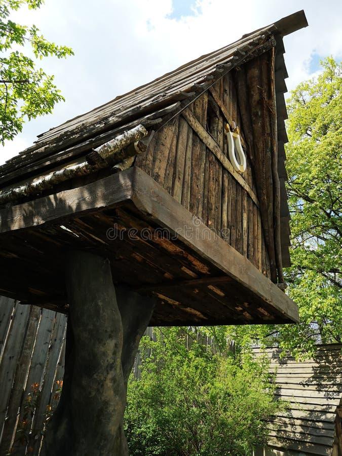 Drzewny dom zdjęcia royalty free