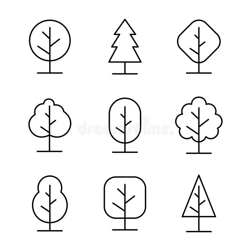 Drzewny ikona kontur obraz stock