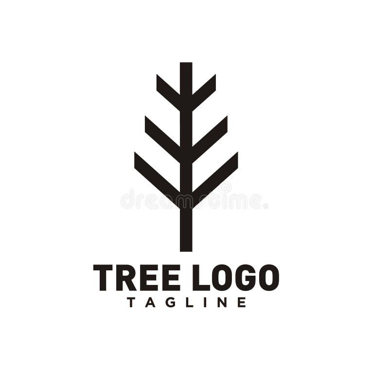 Drzewny logo projekt lub drzewo symbol, ikona dla natura biznesu royalty ilustracja