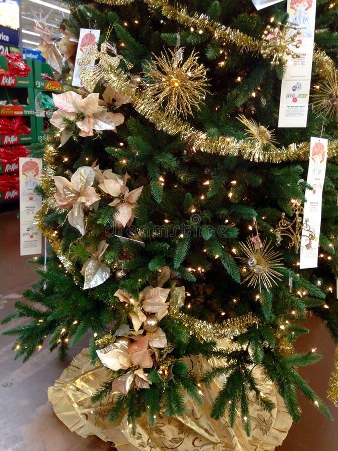 Drzewny nowy rok i boże narodzenia obraz royalty free