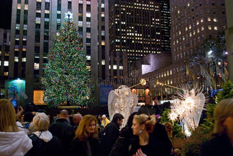 drzewny Rockefeller centrum viewing fotografia royalty free