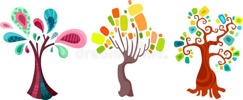 Drzewny set ilustracja wektor
