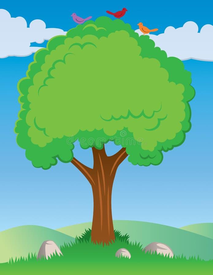 Drzewny tło ilustracji