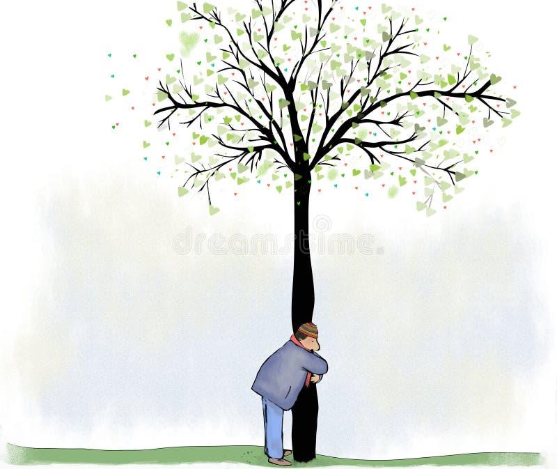 Drzewny uściśnięcie royalty ilustracja