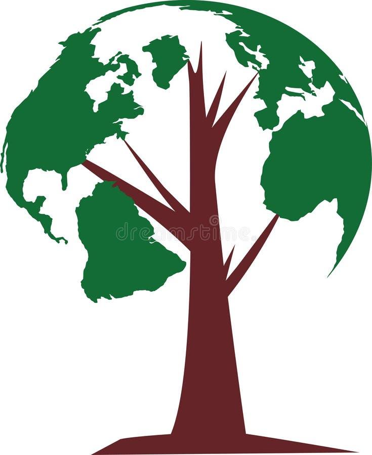 Drzewo świat royalty ilustracja