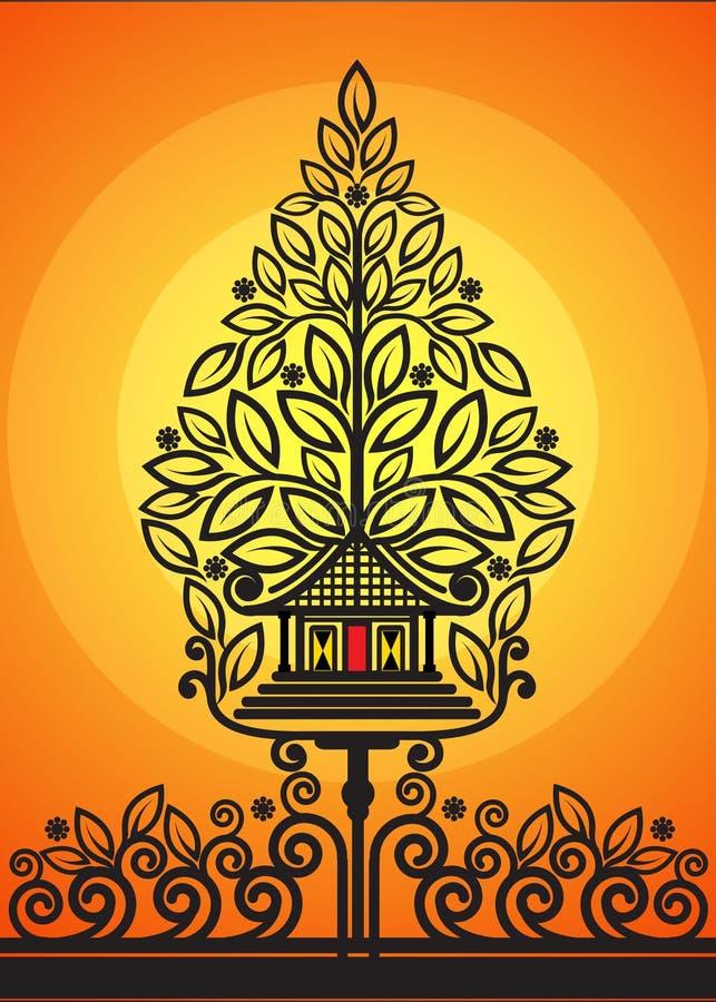 Drzewo życie cienia kukły ilustracji