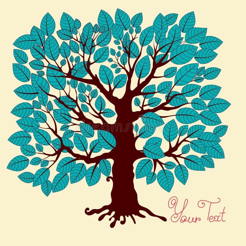 Download Drzewo ilustracji. Ilustracja złożonej z dżentelmen, kwiat - 13343364