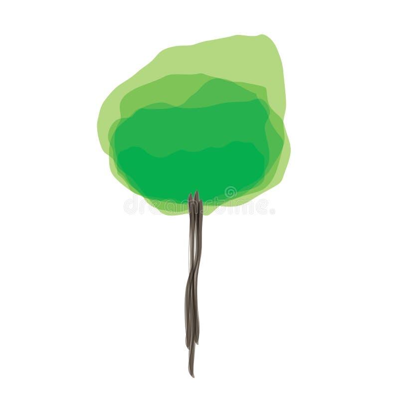 drzewo abstrakcjonistyczny ilustracyjny wektor ilustracja wektor