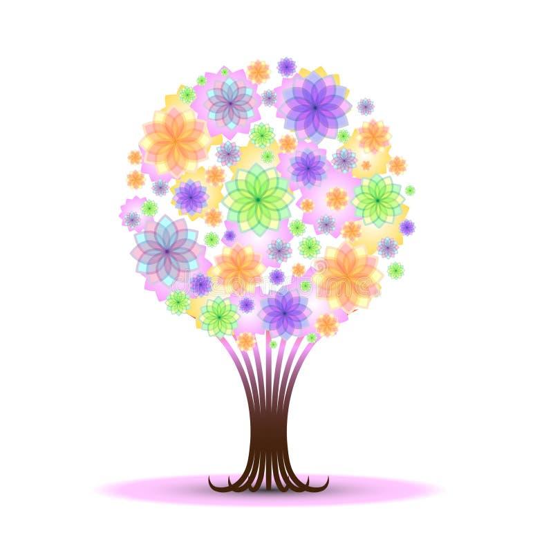 drzewo abstrakcjonistyczny wektor royalty ilustracja