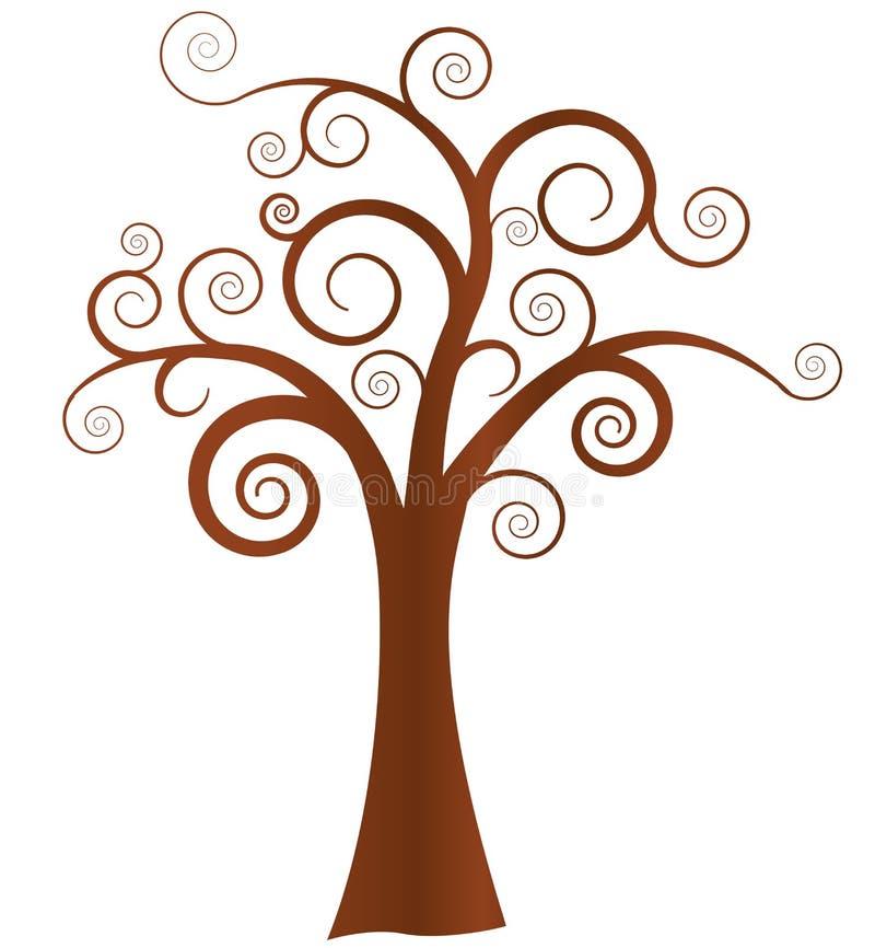 drzewo abstrakcjonistyczny wektor ilustracji