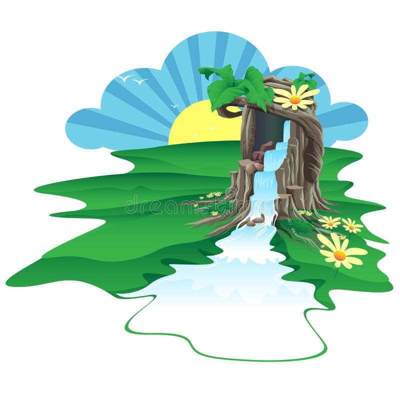 Drzewo był źródłem woda ilustracji