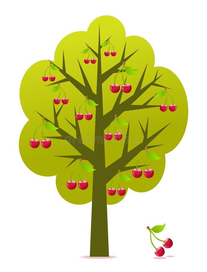 Drzewo czereśniowy wektor ilustracji