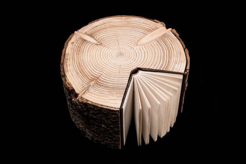 Drzewo i książka zdjęcia royalty free